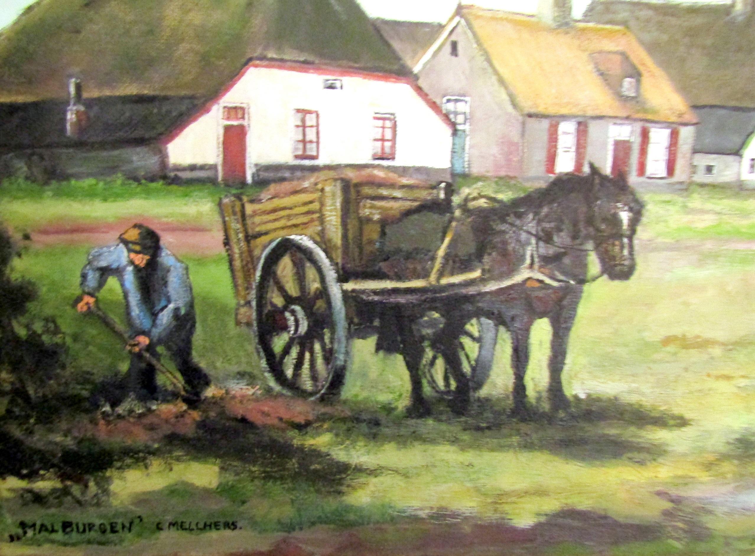 Schilderij Malburgen
